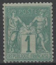 "FRANCE STAMP TIMBRE N° 61  "" TYPE SAGE 1 c VERT 1876 "" NEUF xx TTB SIGNE  N264"