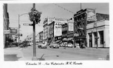Photo. 1951-2. New Westminster, BC Canada. Columbia Street