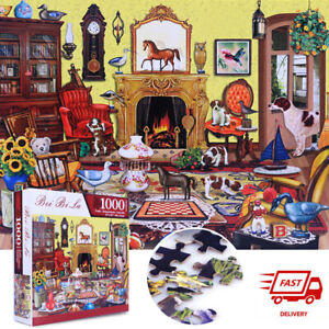 Livingroom Happy Time Jigsaw Puzzles DIY Toy Games Gifts Wall Decoration 1000 Piece Jigsaw Puzzles for Adults /& Kids