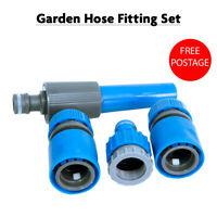4pc Hose Pipe Water Spray Nozzle Gun Set Tap Fitting Hosepipe Attachment Garden
