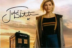 JODIE WHITTAKER THIRTEENTH DR WHO SIGNED AUTOGRAPH 6 x 4 inches PRE PRINED PHOTO