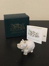 "1995 Harmony Kingdom ""Treasure Jests� Hippo Box Figurine ""It'S A Fine Day�"