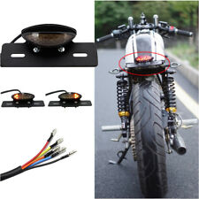 Motorcycle Brake Tail License Plate Turn Signal Light For Bobber Chopper Custom