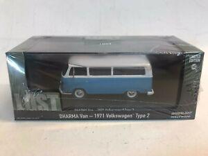 Greenlight Volkswagen T2 Dharma Van 1971 LOST 1/43 die cast