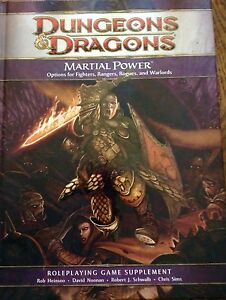 Dungeons and Dragons 4th Edition Martial Power