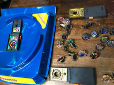 Vintage Power Rangers Spin Fighters Spinner Tops Power Battle Arena Toy Lot R2