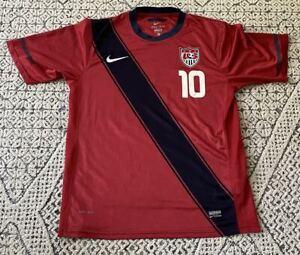 Landon Donovan #10 USA Soccer International Soccer Nike Red Jersey Size XL