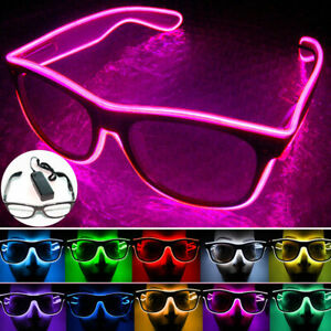 Glasses Masks Glowing Neon EL for rave parties,discos,clubs,festivals and events