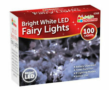 100 Bright White LED Lights Christmas Fairy Garden Xmas Tree Indoor