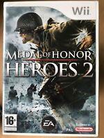 Medal of Honor: Heroes 2 Nintendo Wii, 2008 World War II Game WWII
