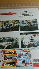 Decals 1/18 ref 744 Mitsubishi Pajero Marreau Rallye Paris Dakar 1990
