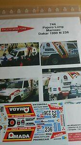 Decals 1/43 Ref 0744 Mitsubishi Pajero Marreau Rally Paris Dakar 1990