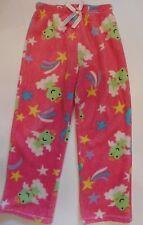 Pair Of Girl's Sleep Pajama Pants Size M 7/8 Angel Frog Stars Girls Frogs Soft