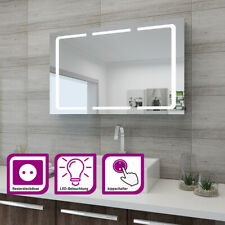 LED Spiegelschrank 3türig 105x65x13 Badezimmerspiegel Badschrank mit Beleuchtung