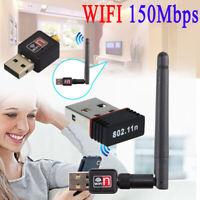 Mini 150Mbps USB 2.0 802.11N/G/B WiFi Antenna LAN Card Adapter Wireless Network