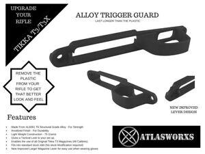 Atlasworxs  Tikka T3 / T3X Alloy Guard Black (Replaces Plastic Guard)