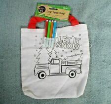 "Crafter's Square Diy Tote Bag with Mini Markers ""Let it Snow"" Pickup Truck (B-8)"
