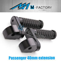 BLACK 40mm Passenger Extended CNC Foot Pegs Fit Yamaha MT-09 13-18