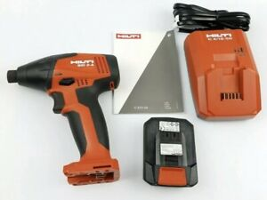 Complete Set: 2.6 Ah Battery PlusCHARGER Genuine NEW HILTI SID 2-A IMPACT DRIVER