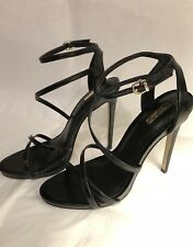 dd22ee58992 BNIB Carvela Georgia Black High Heel Strappy Leather Sandals Size EU 38 UK 5