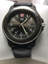 Swiss Army Watch Grey Dial Silver Markers Date At The 3:O Clock New Battery