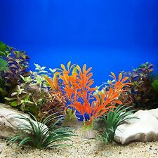 10 Aquarium Decorations Plants Grass Plastic Color Fish Tank Artificial Tall Lot