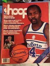 NBA Hoop Magazine December 1986 Washington Bullets Moses Malone Cover Larry Bird