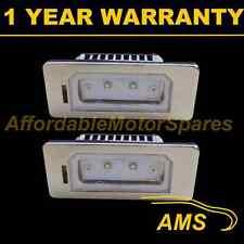 2X FOR BMW 1 X5 X6 E70 E71 E84 METAL 2 CREE WHITE LED NUMBER PLATE LIGHT LAMP