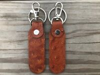 Supreme Leather Key Chains Handmade Car Keys Holder Brown Key Ring Lot of 2