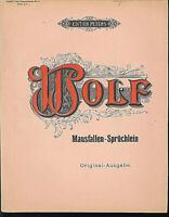 Wolff ~ Mausfallen-Sprüchlein~ alte, übergroße Noten