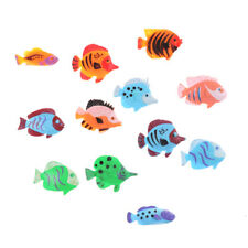 12 pcs Mini Tropical Ocean Fish Toy Gift Sea Life Model Toys  Pool Education 0Y