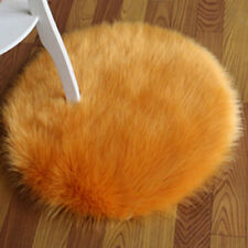 Winter Thick Round Faux Fur Cushion Fluffy Warm Chair Pad Floor Mats Room Decor