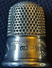 Beautiful Antique Hallmarked 1909 Chester Solid Silver Charles Horner Thimble