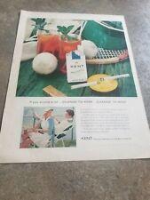 1956 Vintage  Print Ad Kent Cigarettes. If You Smoke Alot