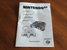 Nintendo 64 N64: Console System NUS-S-HB-USA Instruction Book Manual ONLY Guide