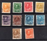 Canada KGV 1922-25 fine used set to $1 SG246-255 Cat Val £50+ WS20972