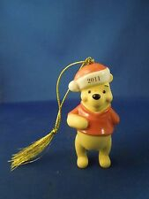 2011 Disney Lenox Ceramic Winnie the Pooh Christmas Tree Ornament