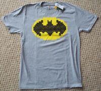 LEGO BATMAN MOVIE BRICK LOGO Men's Unisex GREY / GRAY T SHIRT Size M Medium