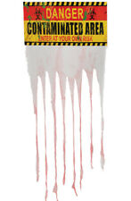 Danger Contaminated Area Sign Zombie Halloween Horror Party Decoration 135 x 90