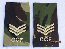 Rango cinghie: sergente, CCF, DPM, Combined Cadet Force, COPPIA, 60x115mm