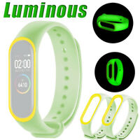 Luminous Silicon Soft Wrist Strap Watch Band Replacement For XIAOMI MI Band 4
