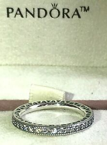 PANDORA SPARKLE &  HEARTS RING 190963CZ , S925 ALE, STERLING SILVER, ALL SIZES.