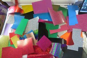 150gram - assorted HTV Textile Transfer Vinyl OFFCUTS ideal Applique work