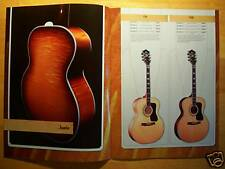 RARE GUILD ACOUSTIC GUITAR CATALOG! BLUEGRASS JUMBO RICHIE HAVENS DV ORCHESTRA+