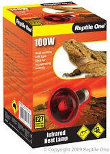 Reptile One R1-46558 Heat Lamp Infrared Medi 100W E27 Screw Fitting for Reptiles
