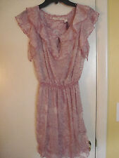 New Womens Chelsea & Violet  Roller Girl  Sheer Lined Dress Size Small