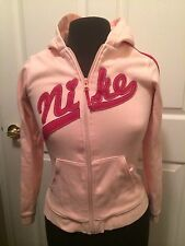 Youth Nike Pink Zipper Hoodie Track Jacket Pullover With Hood SZ 14 Soft Warm