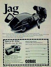 1968 Corgi Diecast Mustang Fastback~Jaguar Toy Promo Car AD