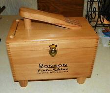 Ronson Shoe Shine Box with Electric Polisher  (HD54)