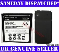EXTENDED BATTERY FOR SAMSUNG GALAXY S S1 i9000 3500mAh WITH BACK COVER UK SELLER